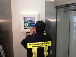 AED Projekt in Weinheim