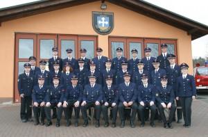 Einsatzmannschaft im Jubiläumsjahr 2003